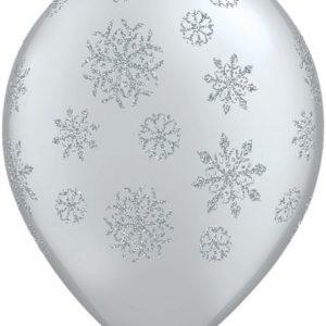 "11"" / 28cm 25ct / 25szt Glitter Snowflakes-A-Round Qualatex #80170"