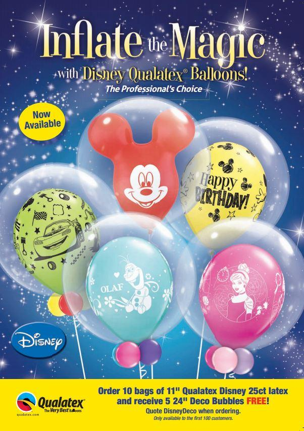 Inflate the Magic with Disney Qualatex Balloons