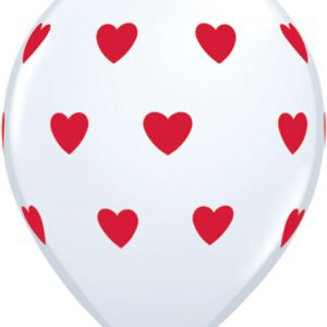 "11"" / 28cm 6ct / 6szt Big Hearts Qualatex #18080"