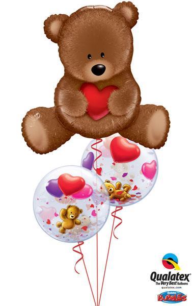 "Bukiet 135# - 35"" / 89cm Teddy Bear Love Qualatex #16453, 65205_2"