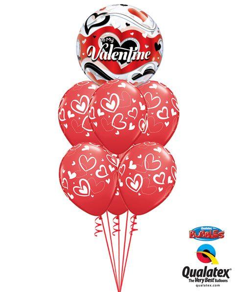 143# Bukiet – 22″ / 56cm To My Valentine Banner Hearts #33907, 11123_6