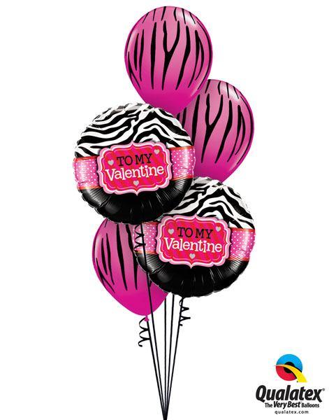 123# Bukiet – 18″ / 46cm To My Valentine Zebra Stripes Qualatex #34079_2, 12584_3