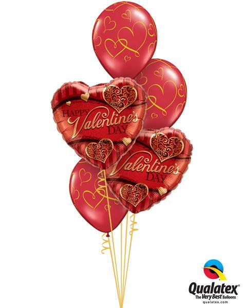 121# Bukiet – 18″ / 46cm Valentine's Golden Filigree Qualatex #34470_2, 40862_3