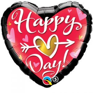 "18"" / 46cm Happy (Heart) Day Qualatex #21630"
