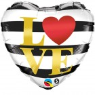 "18"" / 46cm L(Heart)VE Horizontal Stripes Qualatex #21748"