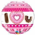 "18"" / 46cm I (Hearts) U Donuts Qualatex #21829"