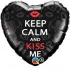 "18"" / 46cm Keep Calm And Kiss Me Qualatex #21831"
