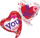 """42"""" / 107cm You & Me Two Hearts Qualatex #21844"""