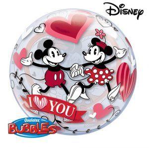 "22"" / 56cm Disney Mickey & Minnie I Love You Qualatex #21892"