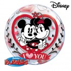 "22"" / 56cm Disney Mickey & Minnie I Love You Qualatex #21892"