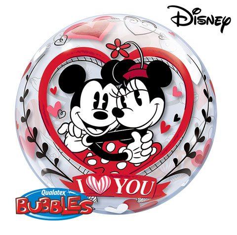 22″ / 56cm Disney Mickey & Minnie I Love You Qualatex #21892