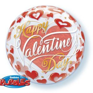 "22"" / 56cm Valentine's Red Hearts Qualatex #21895"