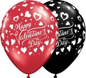 11″ / 28cm Valentine's Classic Hearts Qualatex #23185-1