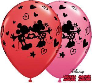 11″ / 28cm Mickey & Minnie XOXO Qualatex #23187-1