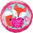 "18"" / 46cm Love You Foxy Heart Qualatex #23459"