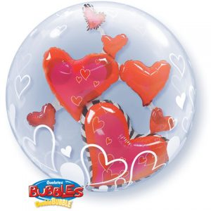 "24"" / 61cm Lovely Floating Hearts Qualatex #68808"