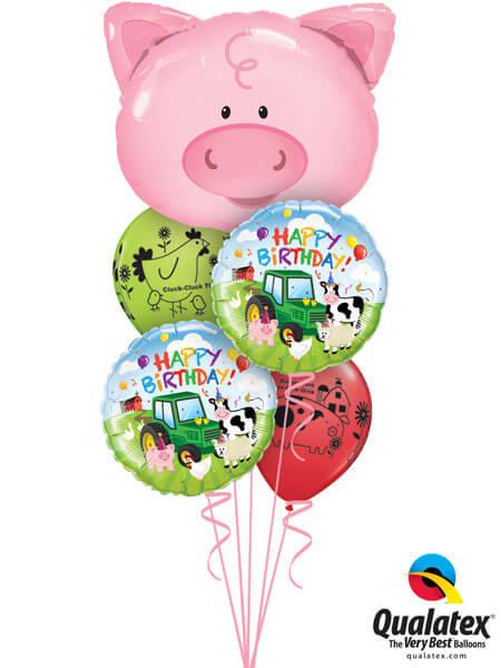 Bukiet 175# – 30″ / 76cm Playful Pig Qualatex #16202, 29612_2, 76477_2