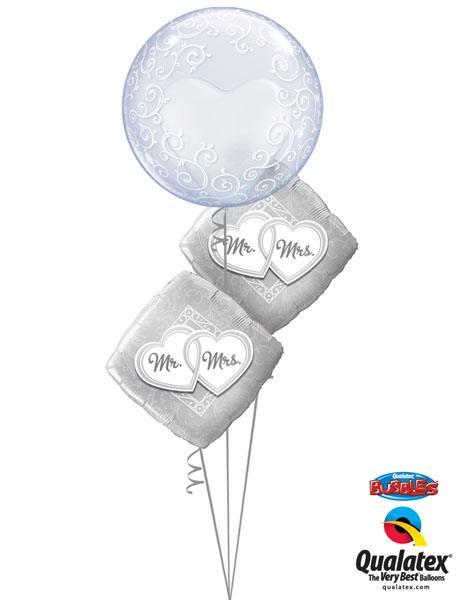 "Bukiet 156# - 24"" / 61cm Deco Bubble - Fancy Filigree Qualatex #13693, 25317_2"