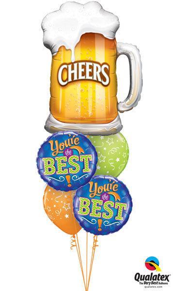 "Bukiet 162# - 35"" / 89cm Cheers! Beer Mug Qualatex #23488, 11833_2, 87291_2"