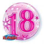 """22"""" / 56cm 18 Pink Starburst Sparkle Qualatex #43122"""
