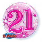 """22"""" / 56cm 21 Pink Starburst Sparkle Qualatex #43123"""