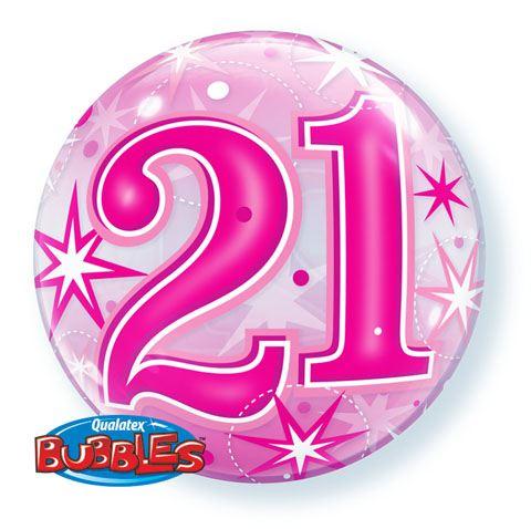 22″ / 56cm 21 Pink Starburst Sparkle Qualatex #43123