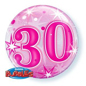 """22"""" / 56cm 30 Pink Starburst Sparkle Qualatex #43124"""