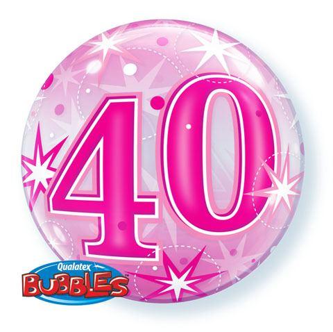 """22"""" / 56cm 40 Pink Starburst Sparkle Qualatex #43125"""