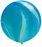 "30"" / 76cm 2ct / 2szt Super Agate Blue Rainbow Qualatex #63756"