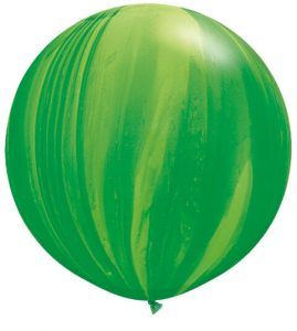"30"" / 76cm 2ct / 2szt Super Agate Green Rainbow Qualatex #63757"