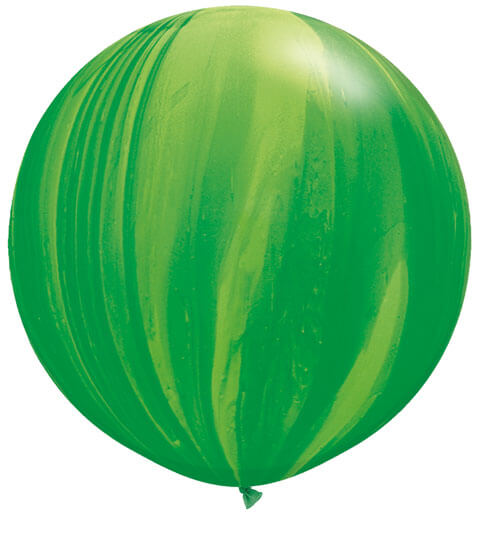30″ / 76cm 2ct / 2szt Super Agate Green Rainbow Qualatex #63757