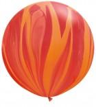 """30"""" / 76cm 2ct / 2szt Super Agate Red Orange Rainbow Qualatex #63759"""