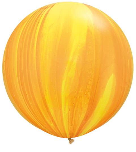 30″ / 76cm 2ct / 2szt Super Agate Yellow Orange Rainbow Qualatex #63760
