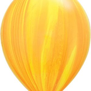 "11"" / 28cm 25ct / 25szt Super Agate Yellow Orange Rainbow Qualatex #91541"