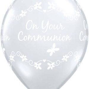 "11"" / 28cm 50ct / 50szt Communion Butterflies Qualatex #13845"