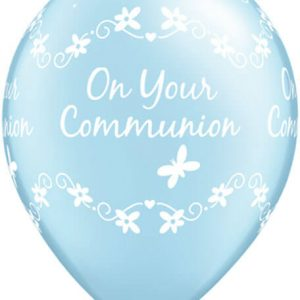 "11"" / 28cm Communion Butterflies Qualatex"