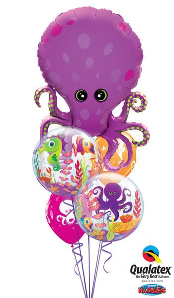 Bukiet 236# - 35″ / 89cm Amazing Octopus Qualatex #25164, 27499_2, 17944_2