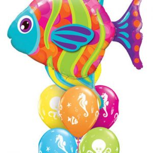 Bukiet 238# - 43″ / 109cm Fashionable Fish Qualatex #16448, 17944