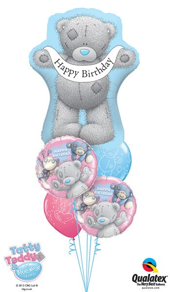 Bukiet 226# – 36″ / 91cm Me To You – Tatty Teddy Birthday Banner Qualatex #16624, 20723_2, 12562_2