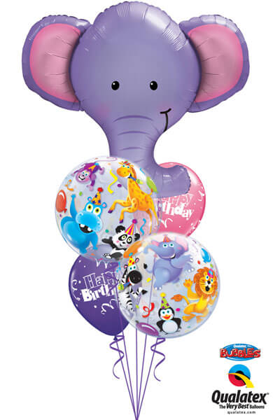 Bukiet 240# - 39″ / 99cm Ellie The Elephant Qualatex #16136, 13737_2, 43059_2