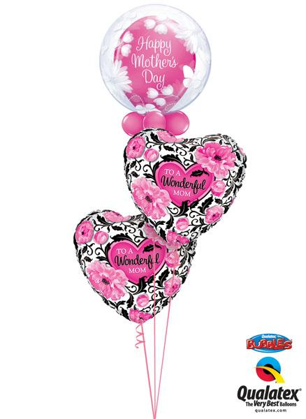 "Bukiet 259# - 20"" / 51cm Deco Bubble - Butterflies & Flowers Qualatex #11560,11978, 41830_2"