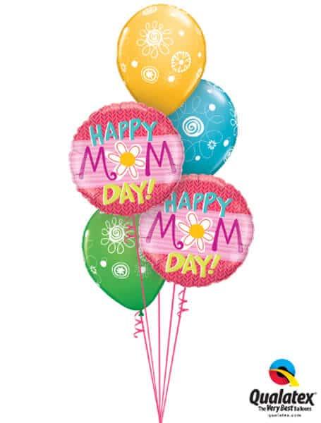 Bukiet 258# Daisy Mother's Day Qualatex #47386-2 48371-3