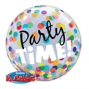 """22"""" / 56cm Party Time! Colourful Dots Qualatex #23636"""