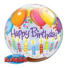 "22"" / 56cm Birthday Balloons & Candles Qualatex #25719"