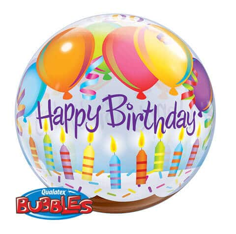 "22"" / 56cm Birthday Balloons & Candles Qualatex #25719"