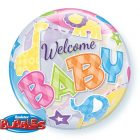 "22"" / 56cm Welcome Baby Animals Patterns Qualatex #25898"