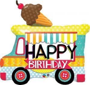"36"" / 91cm Birthday Ice Cream Truck Qualatex #26527"