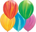 "11"" / 28cm 100ct / 100szt Rainbow Super Agate Assortment Qualatex #91544"