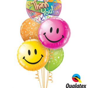Bukiet 266# - 22″ / 56cm Thank You Streamers Qualatex #27500, 29632, 29864, 46110_2