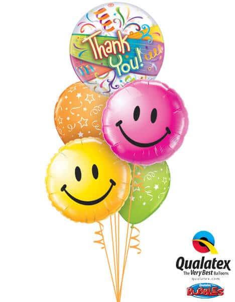 Bukiet 266# - 22″ / 56cm Thank You Streamers Qualatex #27500, 29632, 29864, 46110_2